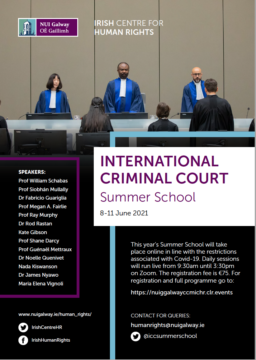 International Criminal Court Summer School (Galway, 8-11 June 2021)