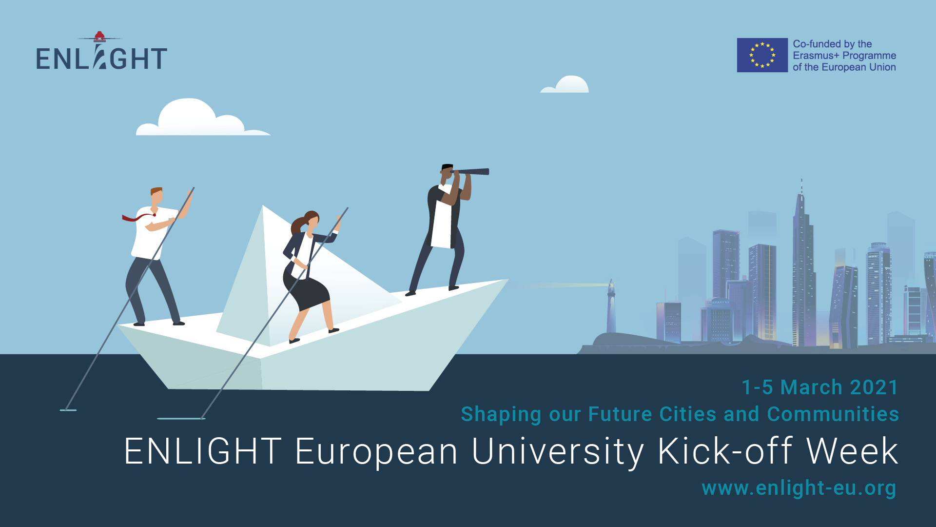 Programme ENLIGHT Kick-off week (1-5 March 2021): register now!