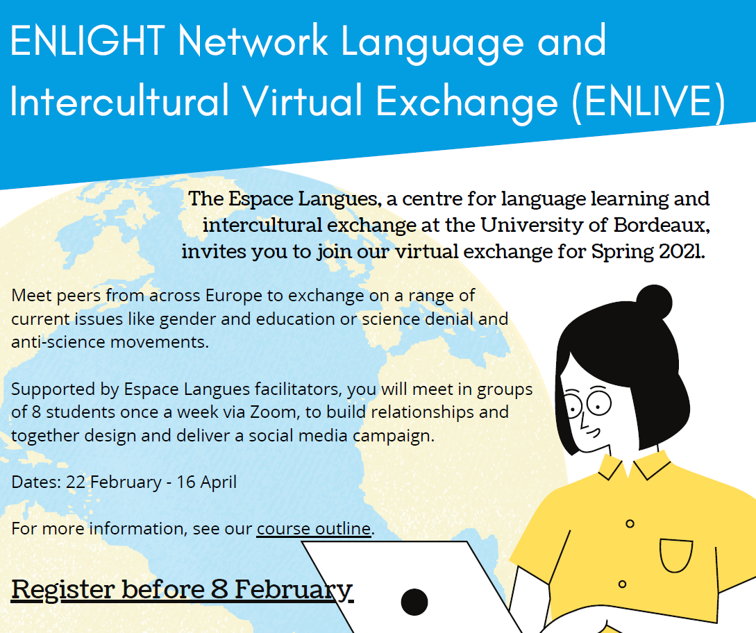 ENLIGHT Network Language and Intercultural Virtual Exchange (ENLIVE)